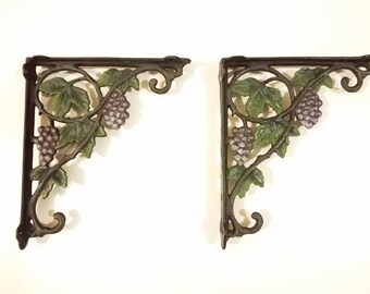 Shelf brackets vintage heavy duty cast iron durable for indoor