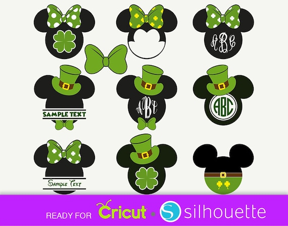Disney Saint Patrick Svg Disney Svg Minnie Mouse Svg Disney Etsy