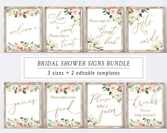 image regarding Printable Bridal Shower Signs identify Bridal shower signs and symptoms Etsy