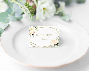 wedding place cards wedding name card succulents greenery etsy