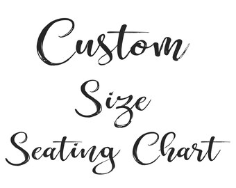 Custom Size Seating Chart Add-on