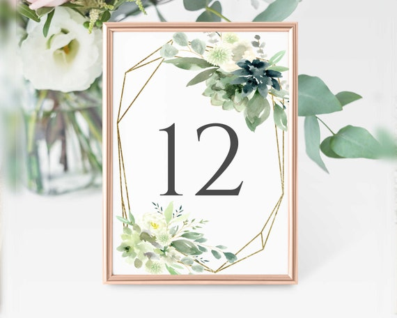 This is a graphic of Printable Wedding Table Numbers with regard to adobe template