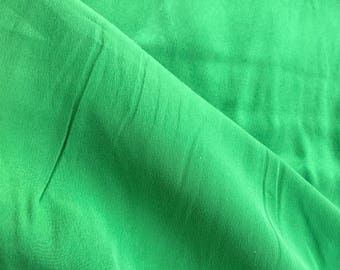 Grass green silk charmeuse