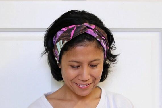 Bandeaux pour les femmes / Twist bandeau / turban femme / bandeau de Yoga / extensible bandeau / large bandeau / vêtements de Yoga