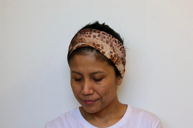 50341a54bea4 Wide Headbands For Women Leopard Print Headband Stretchy
