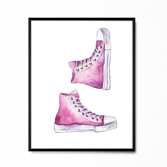 Sneakers print Converse art Pink keds