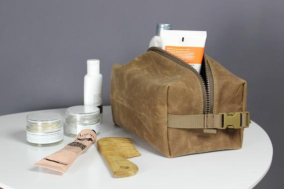 686634ccb3c Waxed canvas dopp kit wax canvas toiletry bag canvas dopp   Etsy