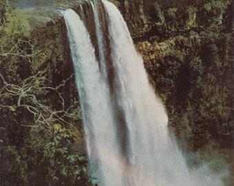 Kauai, Hawaii Vintage Postcard - Wailua Falls, Garden Isle
