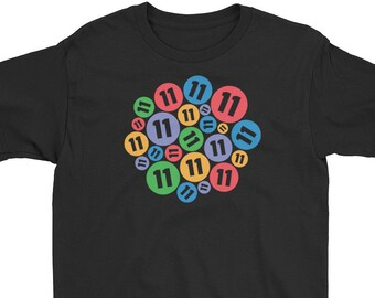 11th Birthday Shirt Number Bubbles Eleventh Colorful 11 Years Old Girls And Boys T