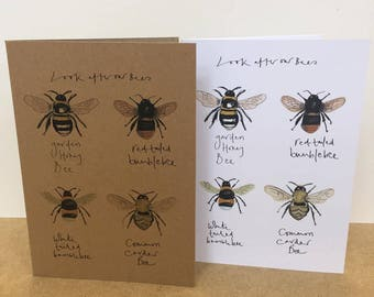Look after our Bee's Greeting Card