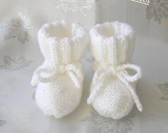 Bottons baby white baby wool