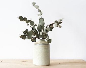 12.5 cm beige sandstone bottle - Homemade ceramics