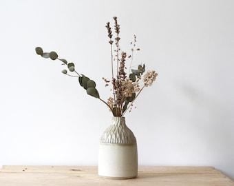 12.5 cm grey and beige sandstone bottle - Homemade ceramics
