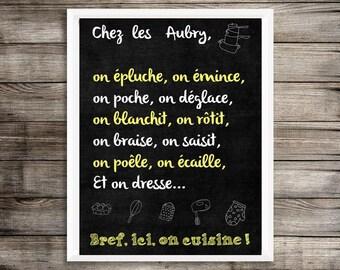"""A4 print - """"Short cooking"""" custom chalkboard Blackboard effect"""