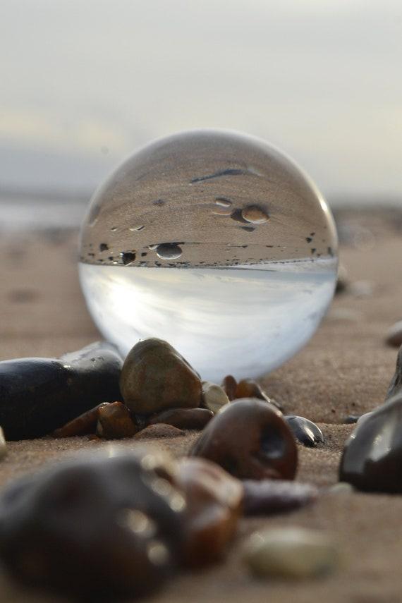 Lensball On Gorleston Beach Seaside Prints Lensball Etsy