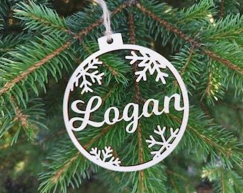 Custom CHRISTMAS baubles personalised Christmas pendants. CHRISTMAS gift tag. Laser cut wood name ornaments beautiful Christmas Decors, C3