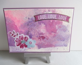 Card all occasions-love or friendship - flower motifs