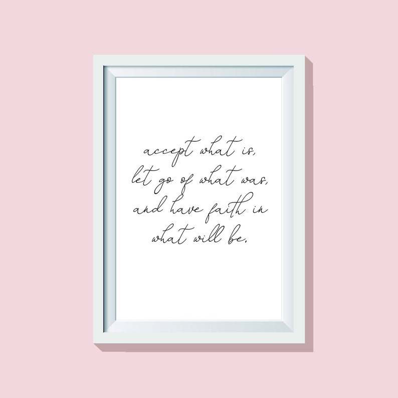 Accept What Is Quote Print Quote Print Wall Art Etsy