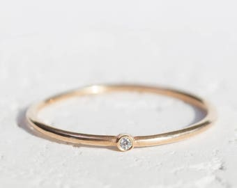 Diamond purity ring etsy purity ring gold dainty ring dainty engagement ring stack rings stackable engagement ring simple engagement ring simple diamond ring junglespirit Images