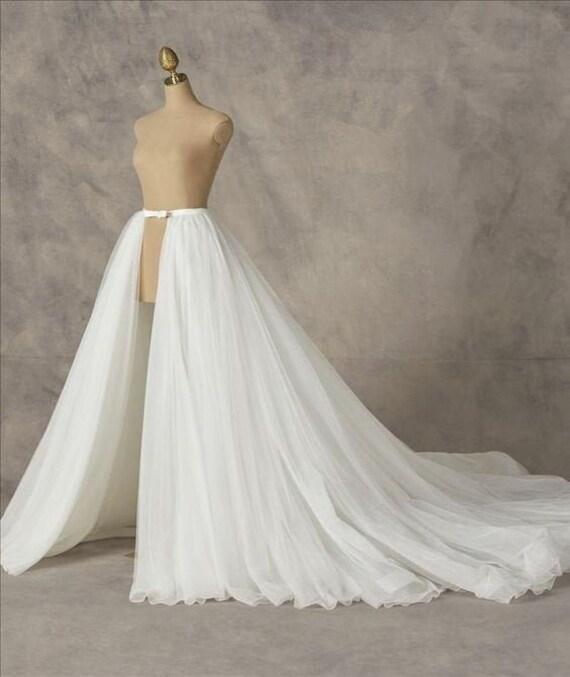Detachable Bridal Skirt Overskirt Tulle Skirt Custom Skirt Etsy
