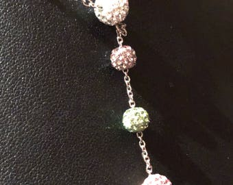 Sterling Silver and Swarovski Crystal Drop Necklace