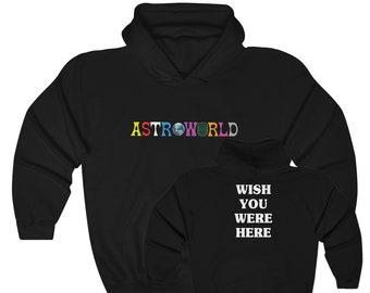 f2bfaa62 Astroworld Hoodie - Travis Scott Tour inspired merch -Wish You Were Here -  Unisex Hooded Sweatshirt