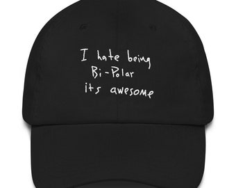 I Hate Being Bi-Polar It s Awesome Kanye West Ye Album cover 2018 Wyoming  Embroidery Dad hat cap 3780ab88046e