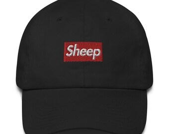 8439e19c801 Sheep box logo Made in USA Cotton dad Hat Cap - Supreme box logo inspired