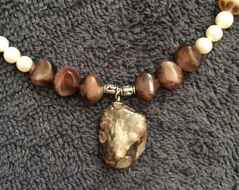 Polished Barnacle Beaded Necklace