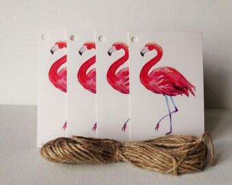 Set of 10 large cardboard Flamingo Pink
