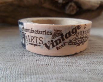Washi tape vintage salmon and black