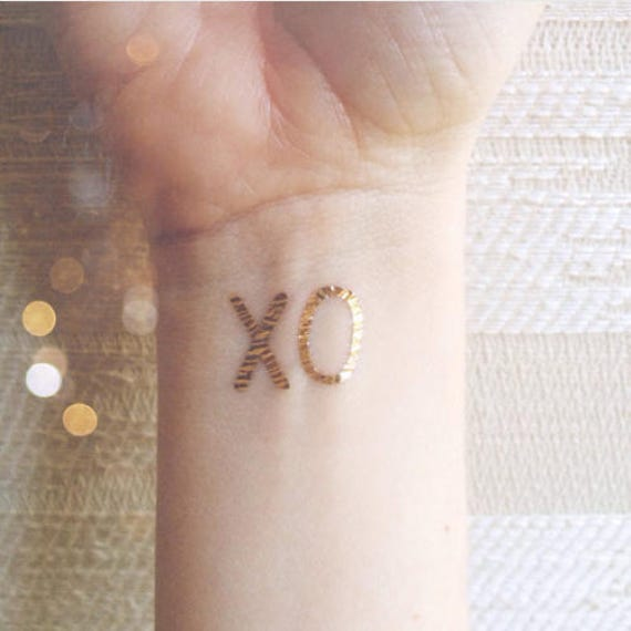 Short Lived Tattoo Xo Color Gold