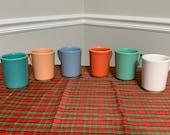 Homer Laughlin Multicolor Coffee Ceramic Vintage Mugs