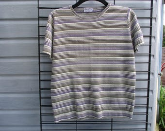 Jaeger classic short sleeved jumper size 14 (38) 1960's /70's