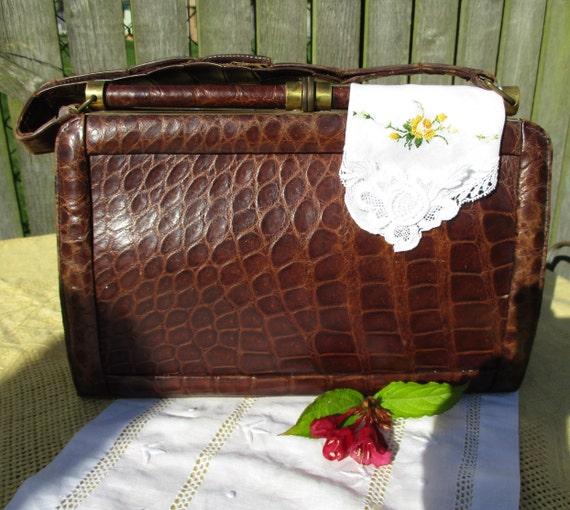 Vintage 1930's Alligator handbag