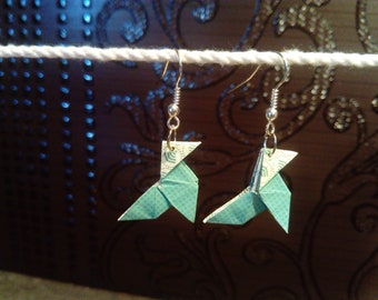 origami earrings * casseroles * green gingham