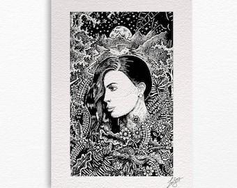 Jane A4 print