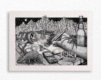 Lost in imagination A4 print