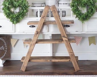 3 Tier Cupcake Stand | Rustic Cupcake Stand | Wood Cupcake Stand | Collapsible Stand | Plant Stand | Display Stand | Folding Wood Stand |