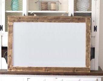 e93bb65788b8 Farmhouse Framed Dry Erase Board   Rustic Memo Board   Distressed Wood Menu  Board   Farmhouse Style Message Board   Farmhouse Dry Erase