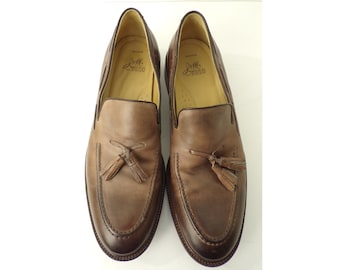 ff8872a53e2 90s J M Brown Leather Loafers Mens Size 10.5M