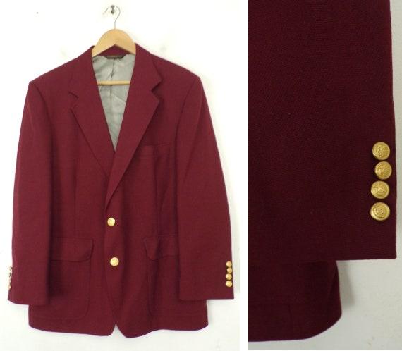 in terms of Atlantic feasible  Vintage Dark Red Sport Coat Mens Size 42S Red Blazer Red   Etsy