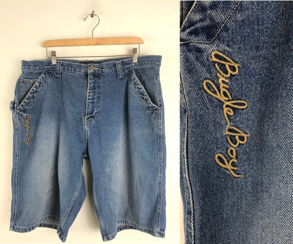 Vintage Bugele Boy Light Wash Jean Shorts Mens Si… - image 1