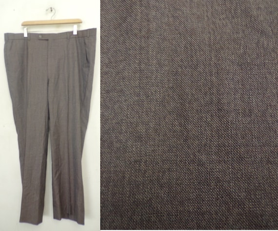 Vintage Purple Gray Pants Mens Size 42x30, Purple