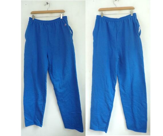 Vintage Champion Sweatpants, Blue 1990s  Mens XL D