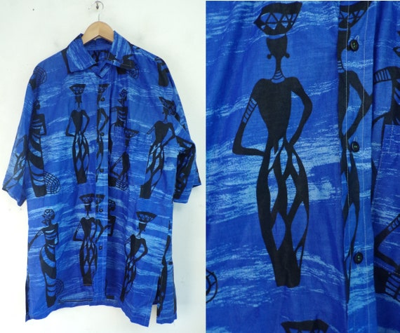 back print 90s 90s clothing front print blue and green