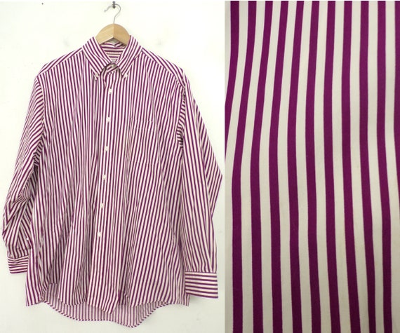 Vintage Brooks Brothers Shirt, Purple & White Striped Dress Shirt, Mens  Large, Purple Stripes, 1990s Mens Dress Shirt, Preppy Shirt, Large