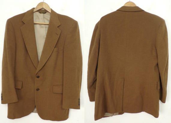 80s Light Brown Blazer Mens Size 42R, Classic Blaz