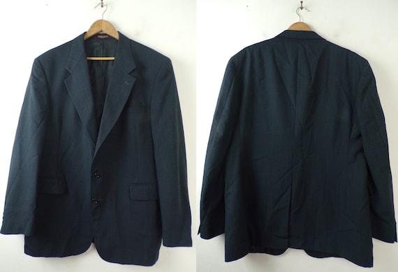 Vintage Black Plaid Blazer | 1990s Men's Evan Pico