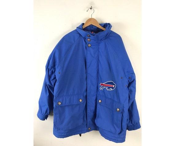 Vintage Buffalo Bills Blue Heavy Coat Mens XL, NFL